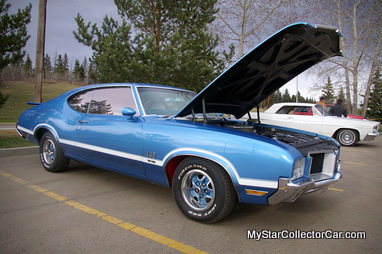 The olds cutlass was a strong combination of style and luxury during